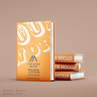 Boek mockup geïsoleerd op zachte kleur achtergrond
