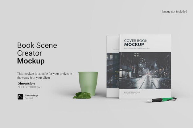 Boek screen creator mockup design