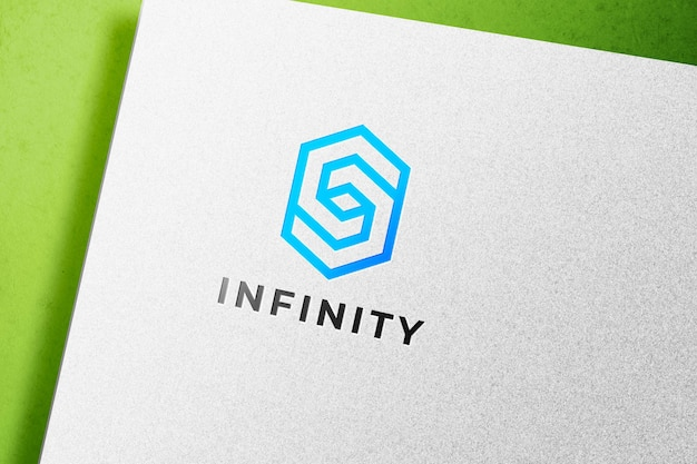 Boekdruk logo mockup