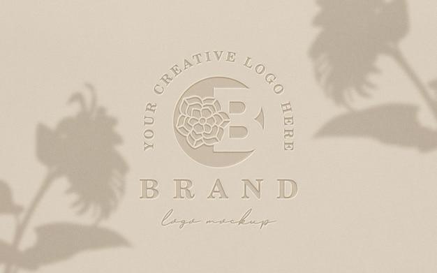 Boekdruk schoon logo mockup