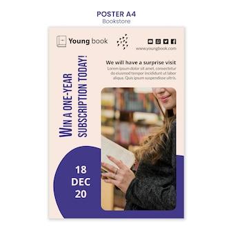 Boekhandel poster sjabloon