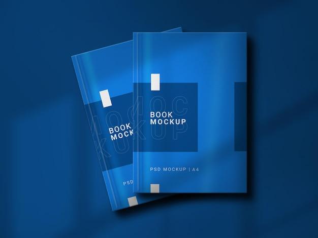 Boekomslag mockup ontwerpweergave