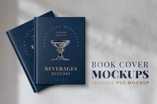 Boekomslag mockup psd, bewerkbaar ontwerp