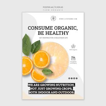 Boerderij organische folder sjabloon