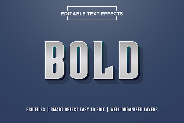 Bold 3d premium text effect