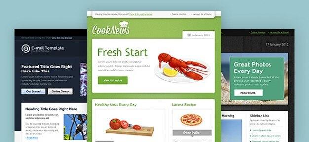 Boletín plantilla web pack psd
