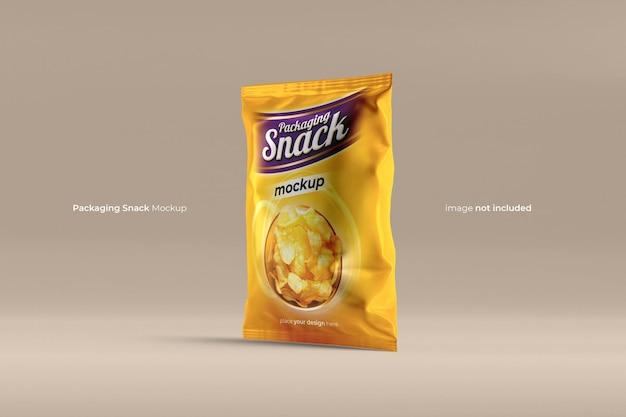 Bolsa de aperitivos bolsa de plástico mockup psd