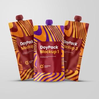 Bolsa de boquilla o maqueta de doypack