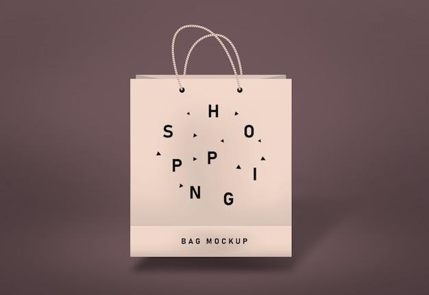 Bolsa de compras maqueta bolsa de papel maqueta