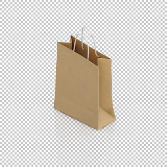 Bolsa de papel isométrica