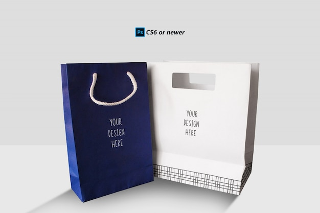Bolsa de papel maqueta
