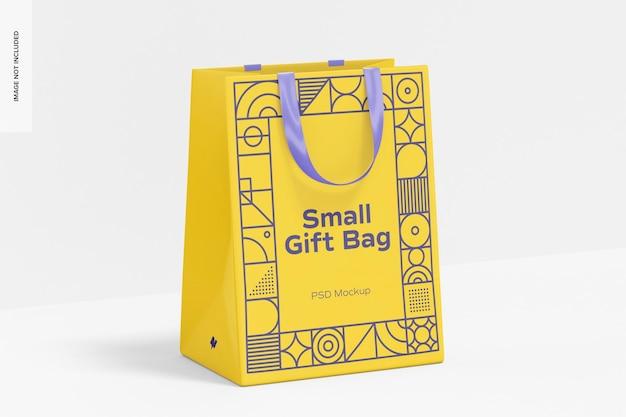 Bolsa de regalo pequeña con maqueta de asa de cinta