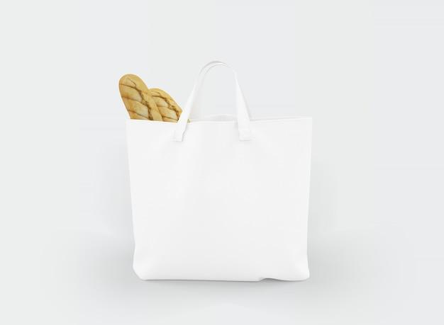 Bolsa de tela con comida en su interior