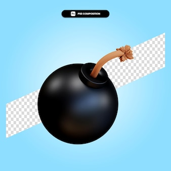 Bom 3d render illustratie geïsoleerd