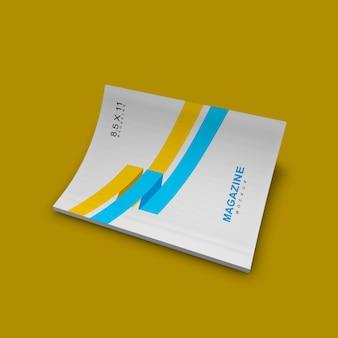 Bonita y limpia maqueta de portada de revista simple