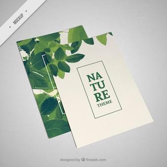 Bonito folleto de hojas