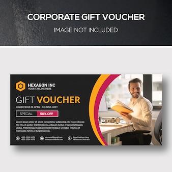 Bono de regalo corporativo