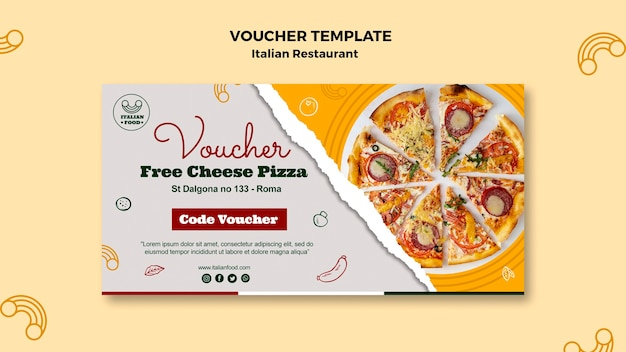 Bono restaurante italiano con pizza
