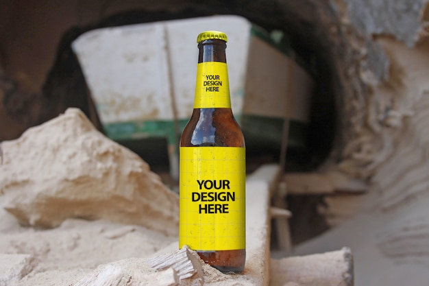 Boot cave beer mockup