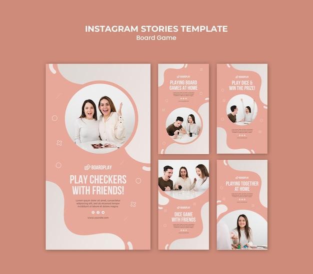 Bordspel concept instagram verhalen sjabloon