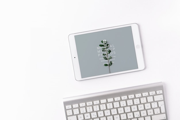 Bosquejo con diseño de ipad
