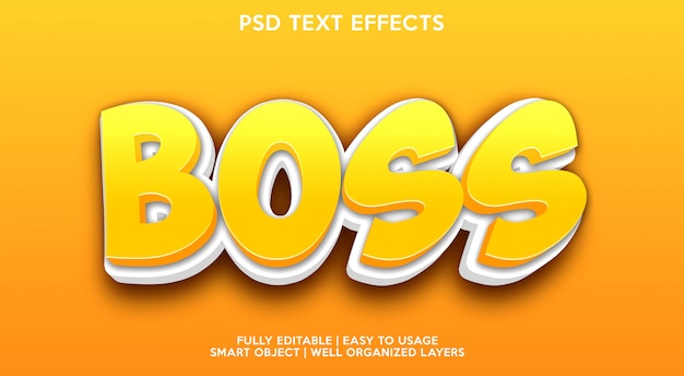 Boss text effect modern