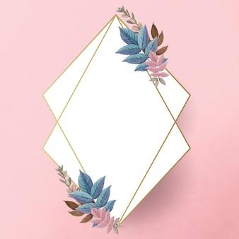 Botanisch gouden frame