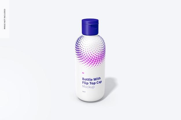 Botella de 30 ml con maqueta de tapa abatible