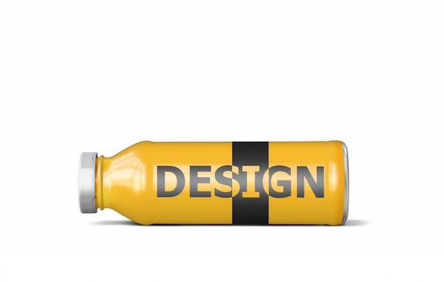 Botella de bebida maqueta psd gratis