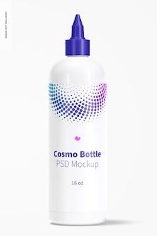 Botella cosmo de 16 oz con maqueta de tapa giratoria