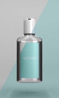 Botella de maqueta desinfectante de manos