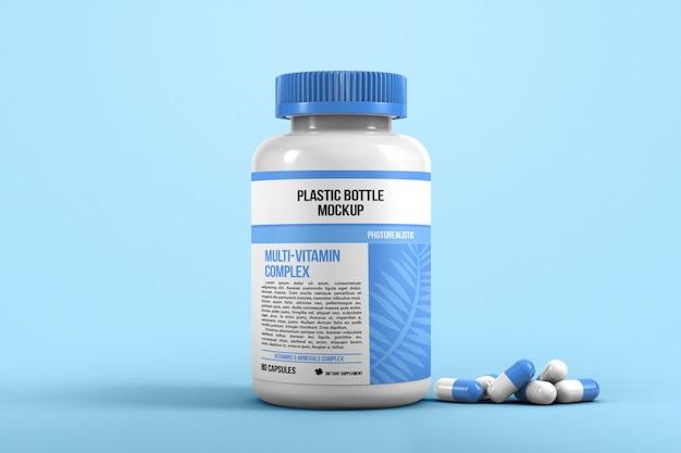 Botella para maqueta de pastillas