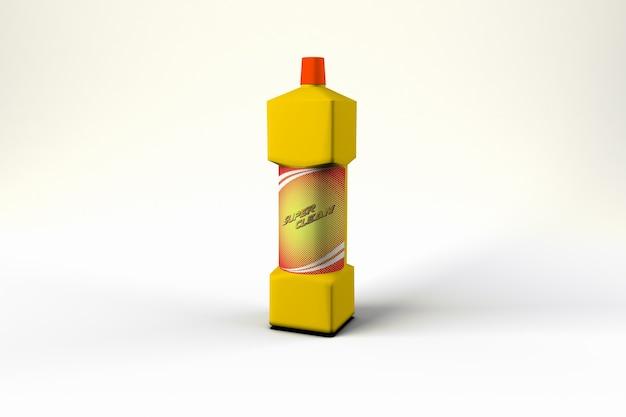 Botella de plástico psd maqueta
