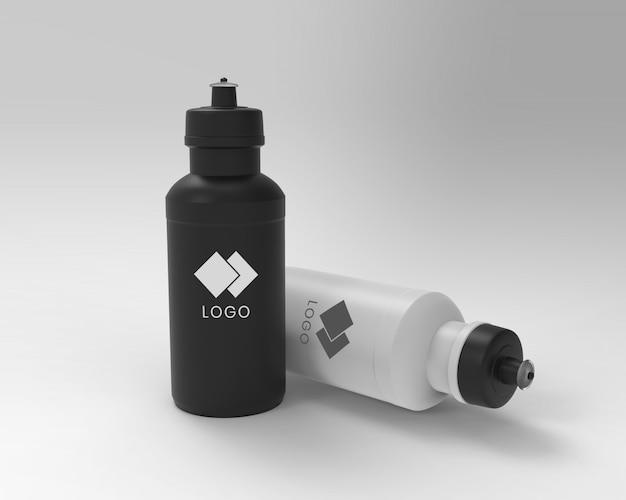 Botella de plástico simulacro