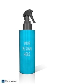 Botella de spray maqueta