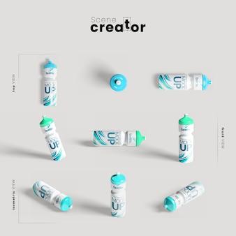 Botellas de agua para maqueta de gimnasio
