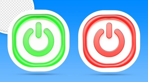 Botón de encendido y apagado aislado de renderizado