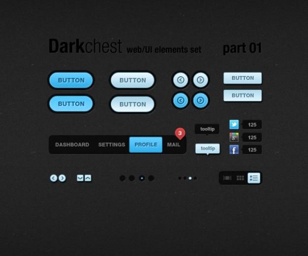 Botones de colorido diseño de la interfaz