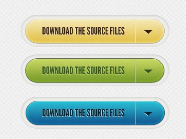 Botones de descargar archivos de material psd