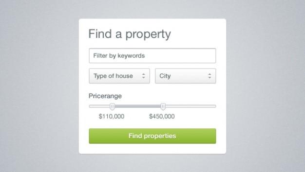 Botones de la interfaz de consulta y cuadros de entrada