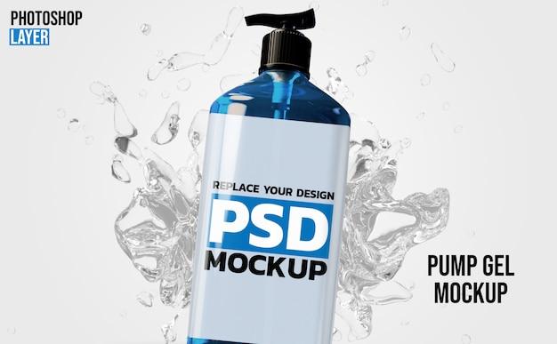 Bottiglia di gel pompa 3d rendering mockup