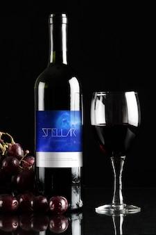 Bottiglia di vino mock up di progettazione
