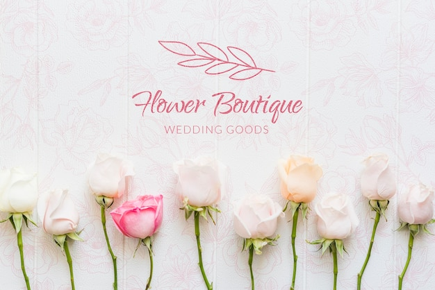 Boutique di fiori con rose