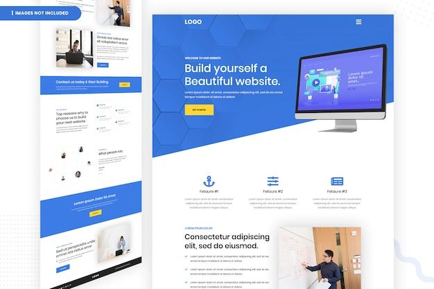 Bouw zelf een prachtige websitepaginasjabloon