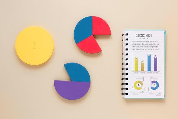Bovenaanzicht analyse van het economische crisisrapport