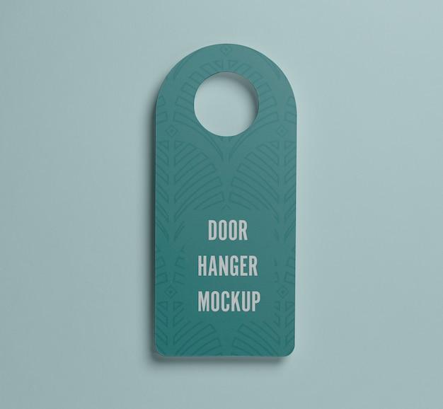 Bovenaanzicht blauwe deurhanger