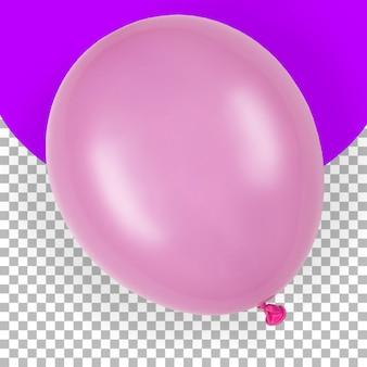 Bovenaanzicht geïsoleerde roze ballon