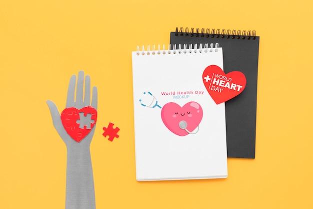 Bovenaanzicht internationale gezondheidsdag