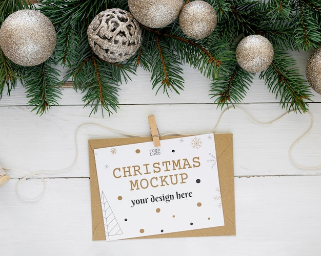 Bovenaanzicht kerstavond arrangement