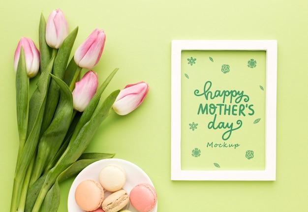 Bovenaanzicht moederdag concept